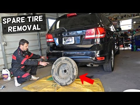 DODGE JOURNEY SPARE TIRE LOCATION AND HOW TO REMOVE SPARE TIRE