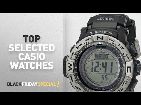 Top Black Friday Casio Watches: Casio Men's PRW-3500-1CR Atomic Resin Digital Watch