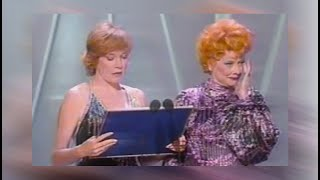 Lucille Ball In Tears After Standing Ovation - 1981 Emmy Awards W. Shirley MacLaine