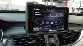 Audi A6 4G Avant und Limousine ab Jahrgang 2012, nachrüsten von DAB+ ohne sichtbare Teile. Verwendun