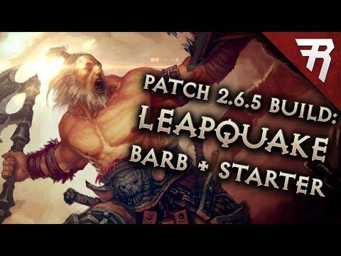 Diablo 3 Season 17 Barbarian Leapquake GR 126+ & starter build guide - Patch 2.6.5 (Torment 16)