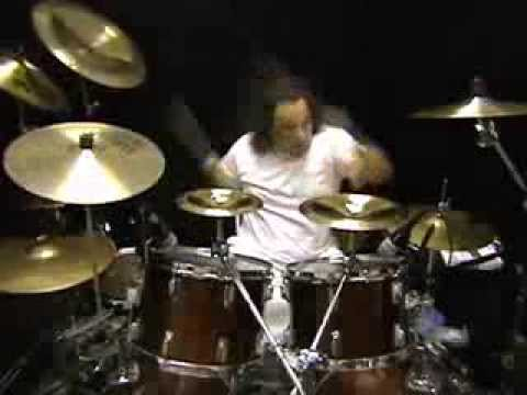 """Mark G. recording drum tracks for the Mark Slaughter composition, """"The Real Thing"""" from his solo CD, """"Reflections In a Rear View Mirror."""""""