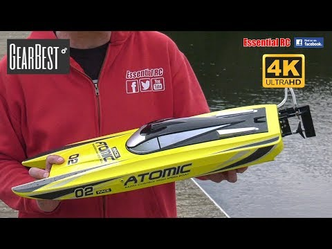 VolantexRC V729 ATOMIC ready-to-run BRUSHLESS RC Racing Boat: ESSENTIAL RC DRIVE TEST [*UltraHD/4K*]