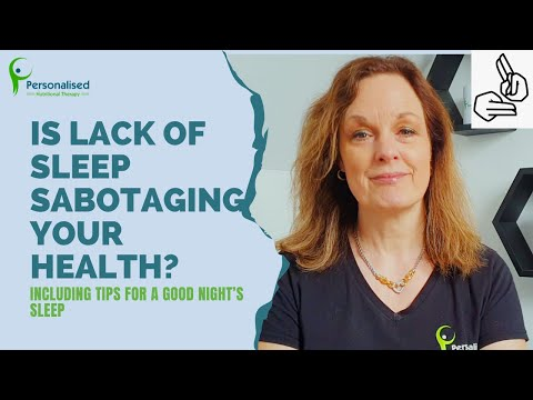 Is lack of sleep sabotaging your health (BSL)