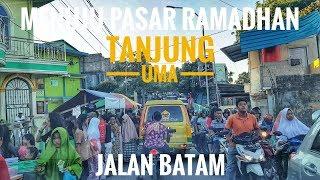 Ramainya Jalan Menuju Ke Pasar Ramadhan Kampung Agas Tanjung Uma Batam Di Sore Hari   Jalan Batam