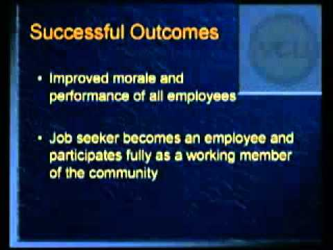 Job Coaching Services for Individuals with Disabilities - YouTube