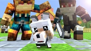 Wolf Life 2: Baby Wolf - Minecraft Animation