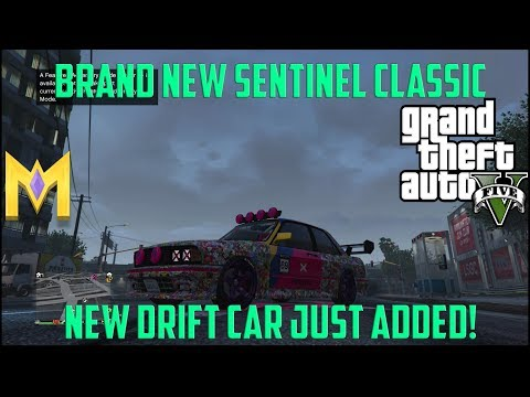 "GTA 5 DLC Car - The NEW Sentinel Classic Drift Car! ""New Ubermacht Sentinel Classic"""