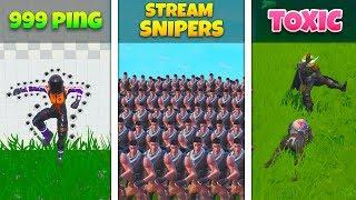 999 Ping VS Stream Snipers VS Toxic