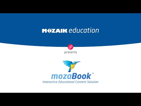 mozaBook on the CTOUCH Riva