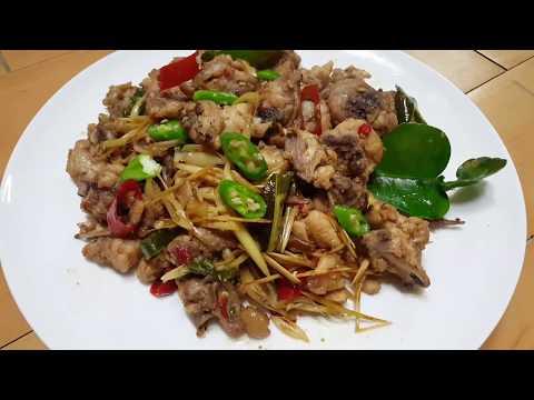 ឆាក្តៅសាច់មាន់ Cambodian Stir Fried Spicy Chicken