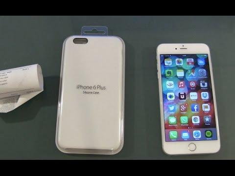 Apple iPhone 6 Plus Silikon Case Hülle Weiß Unboxing und erster Eindruck