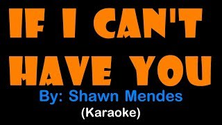 If I Can't Have You   Shawn Mendes (karaoke Version)