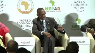 preview picture of video 'President Kagame speaks on agriculture at World Economic Forum- Abuja, -7 May 2014'