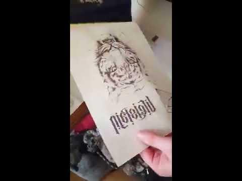 Drucker - Tattoo - Stencil