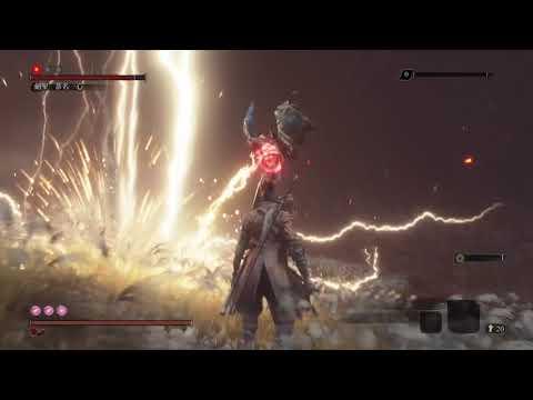 《Sekiro Shadows Die Twice》劍聖 葦名一心無傷擊破,困難模式、鐘鬼、無使用道具、忍具。