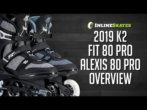 Video: 2019 K2 FIT 80 Pro and Alexis 80 Pro Mens and Womens Inline Skate Overview by IneSkatesDotCom