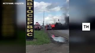 Видео с «ГАЗелью», загоревшейся в Челнах во время движения