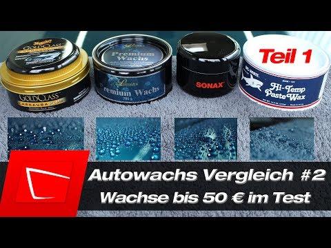 Wachs Vergleich Autowachs Test Meguiars Gold Class, Petzoldts Premium, Sonax Carnauba, Finish Kare