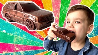 Шоколадный Рендж Ровер. Превращаем машинку в шоколадную. Видео для детей.