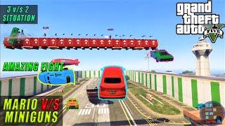 GTA V | Amazing Mario v/s Miniguns Gameplay After RON The Car Wash Service Fun