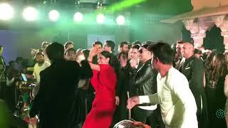 Deepika Padukone Ranveer Singh Crazy Dance On Malhari Song At Isha Ambani Pre Wedding Party