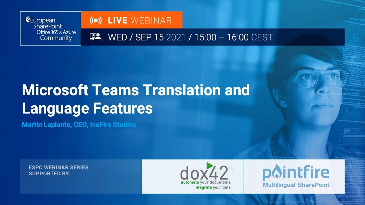 Microsoft Teams Translation and Language Features