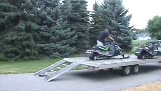 Aluma 8624 Snowmobile Trailer 4-Place Drive-On