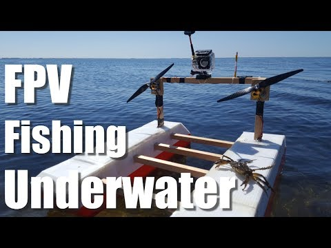 Rc Fishing Boat Catches FISH While Fishing Underwater Camera Footage Homemade DIY Airboat
