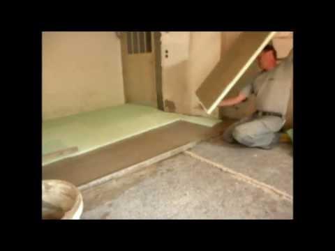 Estrich nur aus Dämmung, für Renovierung bei geringer Aufbauhöhe, Vollwärmeschutz am Boden