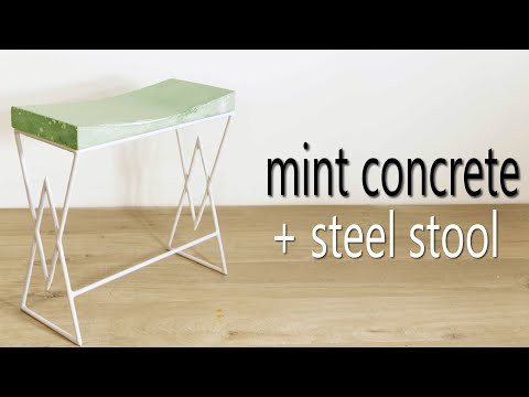 DIY Mint Concrete Bench (or Stool) || How to Make
