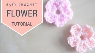 CROCHET: Simple Flower Tutorial | Bella Coco
