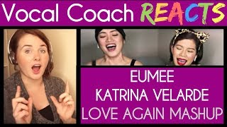 Vocal Coach Reacts to Katrina Velarde & Eumee - I'll Never Love You Again/Without You