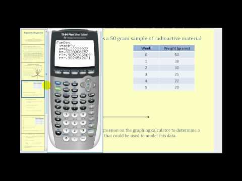 Exponential Regression On The Ti84 Example 1