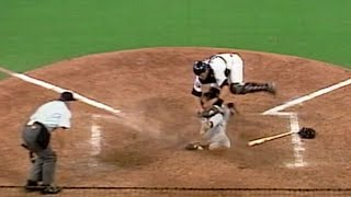 1991 ASG: Fisk tags out Clark at home plate