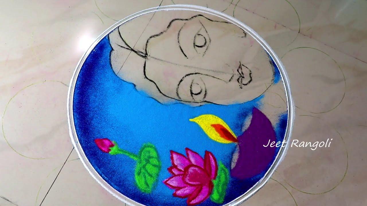 beautiful and attractive rangoli design for diwali by jeet rangoli