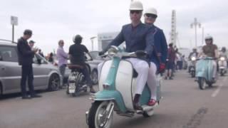 Brighton Mod Weekender 2015- Scooter Cruise Departure