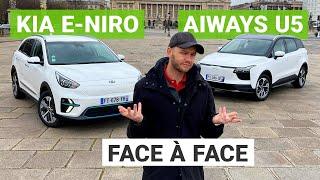 Kia e-Niro vs. Aiways U5 : la Chine avance ses pions