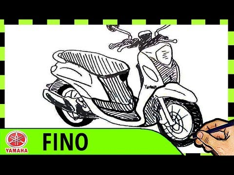 Keren Menggambar Motor Yamaha Fino Cara Belajar Menggambar