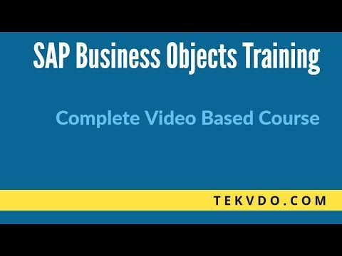 (Business Objects) Online Training | SAP BO | tekvdo.com - YouTube