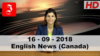 News English Canada 16th Sep 2018