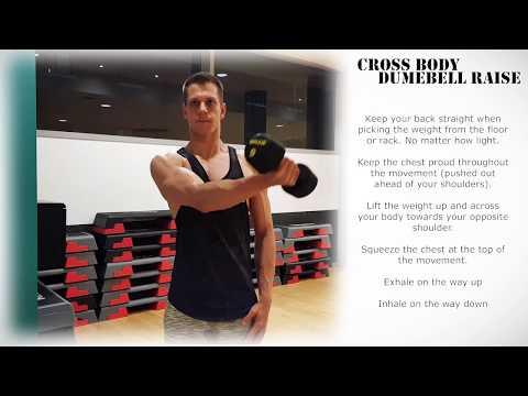 Single Arm Dumbbell Cross Body Front Raise