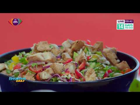Preparing glazed chicken chop chop salad with Chef Ruby | Breakfast Daily