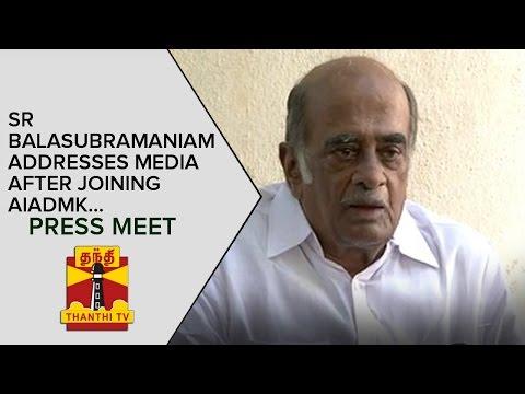 S-R-Balasubramaniam-addresses-Media-after-Joining-AIADMK-Press-Meet--Thanthi-TV
