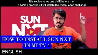 HOW TO INSTALL AND USE sun nxt in mi tv 4 EXCLUSIVE TECH INFO # 44