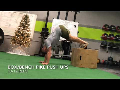 Pike Push Up (from Bench/box)