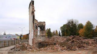 От клуба имени Ленина осталась одна стена