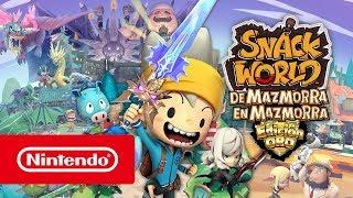 Nintendo SNACK WORLD: DE MAZMORRA EN MAZMORRA – EDICIÓN ORO Tráiler de presentación anuncio