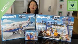 Playmobil Flughafen Terminal Und Flugzeug NEU ♡ Playmobil Aufmachen Mit Geschichten Und Spielzeug