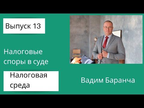 Налоговая среда 13. Налоговые споры в суде